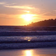 Sun Set In Carmel Print by Ofelia  Arreola