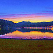 Sun Set On Lake Lure Art Print