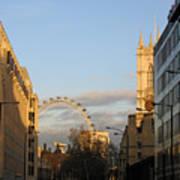 Sun Sets On London Art Print