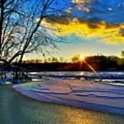 Sun Snow Ice Art Print