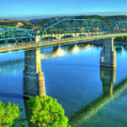 Sun Up Reflections Chattanooga Tennessee Art Print
