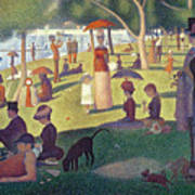 Sunday Afternoon On The Island Of La Grande Jatte Art Print by Georges Pierre Seurat