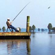 Sunday Fisherman Art Print
