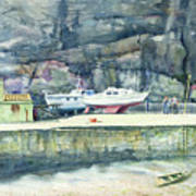 Sunday Morning Dysart Harbour Art Print