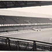 Sunderland - Roker Park - Main Stand 1 - Bw - Leitch - 1960s Art Print