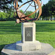 Sundial At American Legion Post, Indianapolis, Indiana Art Print