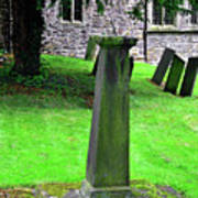 Sundial In St Leonard's Churchyard - Thorpe Art Print