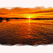 Sundown At Low Tide 2 Art Print