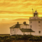 Sundown At The Lighthouse Art Print