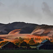 Sundown At The Ranch Art Print