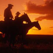 Sundown In Wyoming Art Print