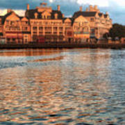 Sundown On The Boardwalk Walt Disney World Art Print