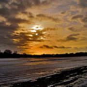 Sundown Over Ice Art Print