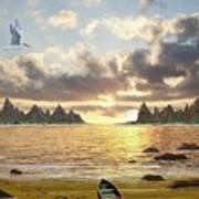 Sundown Seascape Art Print
