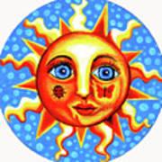 Sunface With Ladybug Art Print