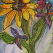 Sunflower And Friends Art Print