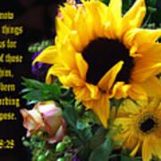 Sunflower Bouquet  Art Print
