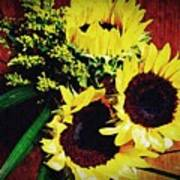 Sunflower Decor 3 Art Print