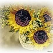 Sunflower Decor 9 Art Print