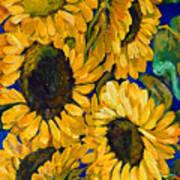 Sunflower Faces Art Print