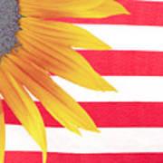 Sunflower Flag Art Print