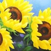 Sunflower Foursome Art Print