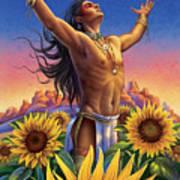 Sunflower - Glorious Success Art Print by Anne Wertheim