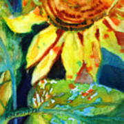 Sunflower Head 4 Print by Kathy Braud