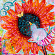 Sunflower In The Middle Art Print