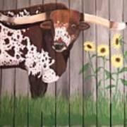 Sunflower Longhorn Art Print