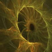 Sunflower Nebula Art Print
