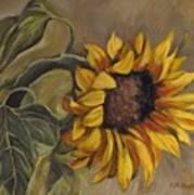 Sunflower Nod Art Print