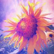 Sunflower Oil Painting Art Print