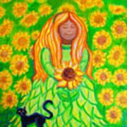 Sunflower Princess Art Print