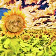 Sunflower Storm Art Print
