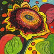 Sunflower Surprise Art Print by Jennifer Lommers