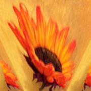 Sunflower To The Sky Art Print by Marsha Heiken