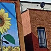 Sunflower Town Art Print