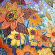 Sunflower Tropics Part 1 Art Print