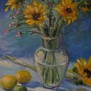 Sunflowers And Citrus Art Print