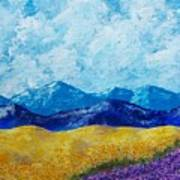 Sunflowers And Lavender In Provence Art Print