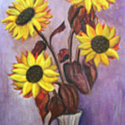 Sunflowers For My Daughter Art Print