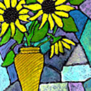Sunflowers In A Vase Art Print