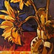 Sunflowers In Italian Vase Take Two Art Print