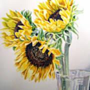Sunflowers Art Print by Irina Sztukowski