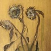 Sunflowers On Gold Art Print