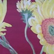 Sunflowers On The Run Art Print