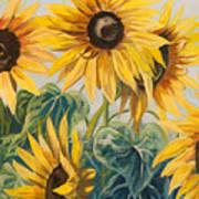 Sunflowers Part 2 Art Print