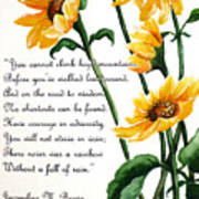 Sunflowers  Poem Art Print