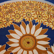 Sunflowers Rich In Blooming Art Print